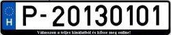 P rendszám 2013