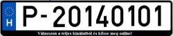 P rendszám 2014